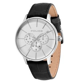 Police Swift Men's Black Leather Strap Watch - Product number 9547592