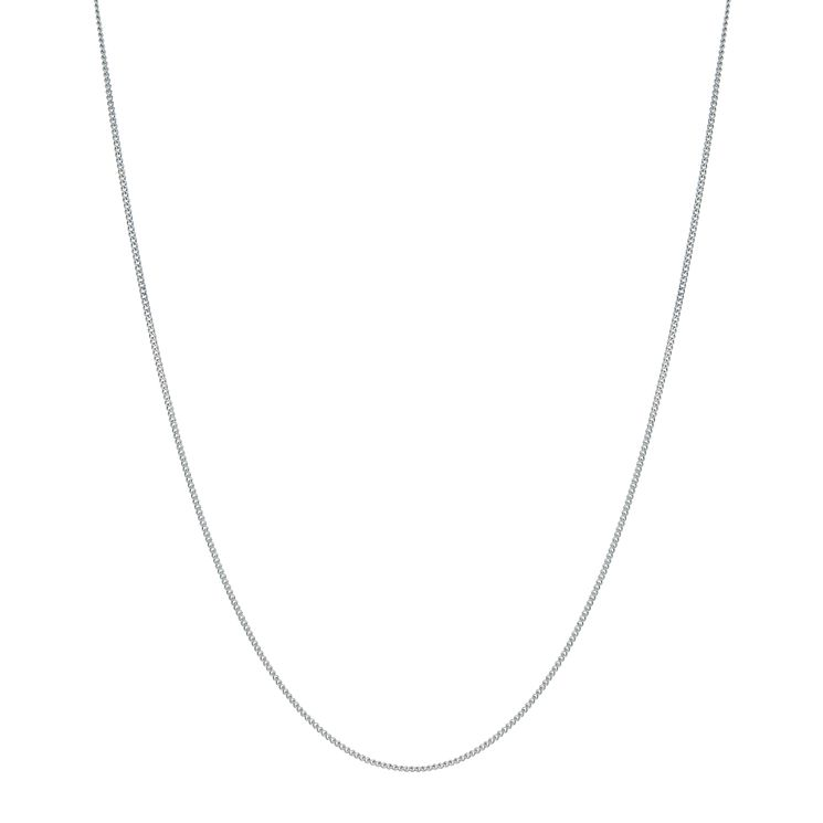 "9ct White Gold Fine Curb Chain 18"" - Product number 9551565"