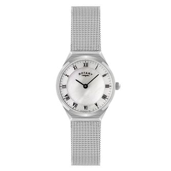 Rotary Ladies' Stainless Steel Mesh Bracelet Watch - Product number 9552448
