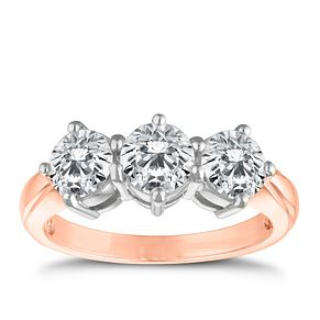 18ct Rose Gold 2ct Diamond Ring - Product number 9552766