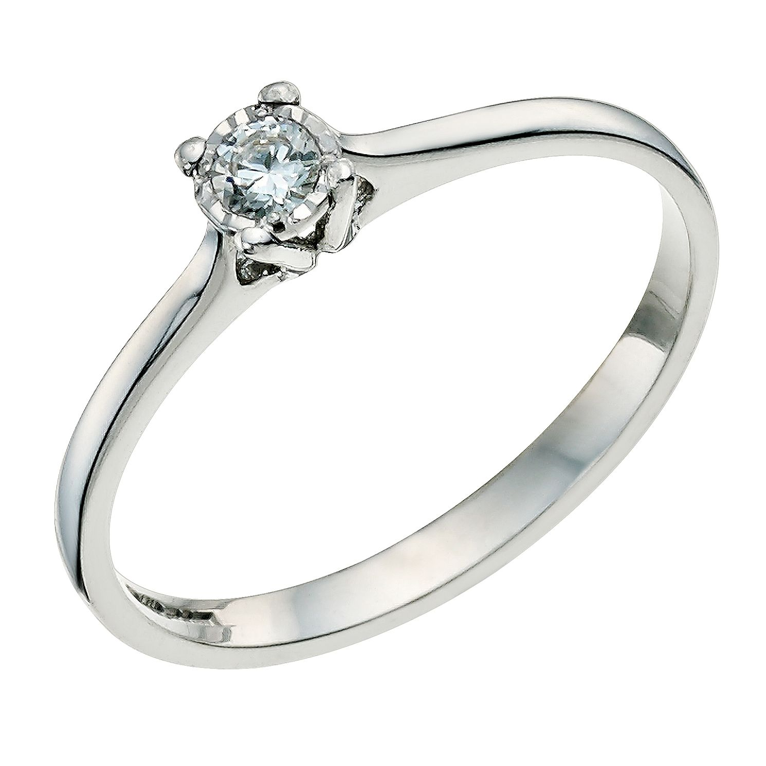 nicole rose solitaire ring princess cut jewellery