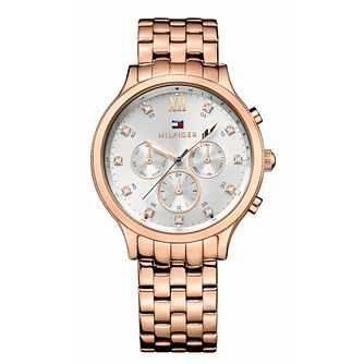 Tommy Hilfiger Ladies' Rose Gold Tone Bracelet Watch - Product number 9584056