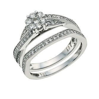 Perfect Fit 18ct White Gold 0.63 Point Diamond Bridal Set - Product number 9584498