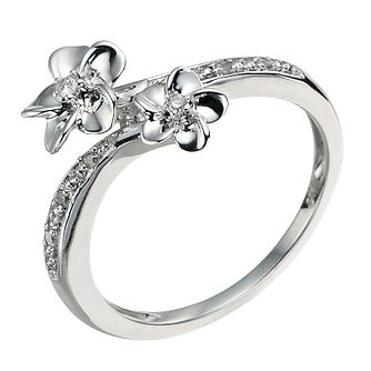 Silver & Diamond Flower Ring - Product number 9591818