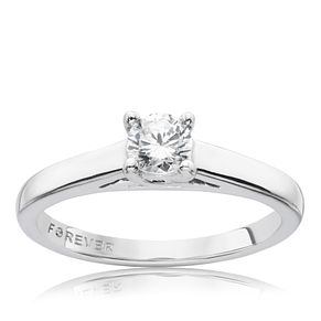 9ct White Gold 1/3 Carat Forever Diamond Ring - Product number 9594027