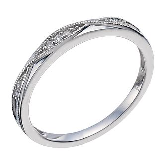 9ct White Gold & Diamond Ring - Product number 9596542