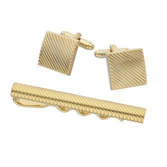 Walton Gold cufflinks and tie clip set - Product number 9598987