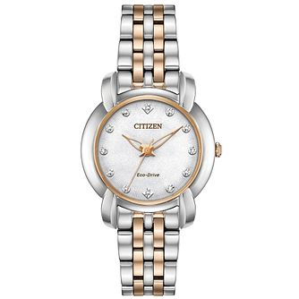 Citizen Ladies' Eco-Drive Diamond Dial Bracelet Watch - Product number 9600434
