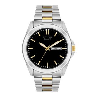 Citizen Men's Quartz Stainless Steel Black Dial Watch - Product number 9600701