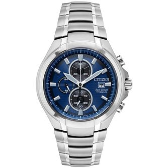 Citizen Men's Chronograph Titanium Bracelet Watch - Product number 9602690