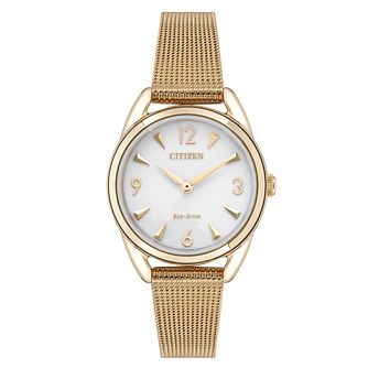 Citizen Mini Ladies' Eco-Drive Rose Gold Tone Bracelet Watch - Product number 9602933