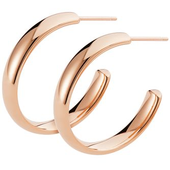 Ceramic Rose Gold Plated C-Hoop Earrings - Product number 9603964