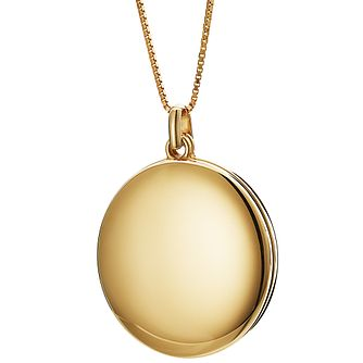 Ceramic Yellow Gold Plated Sliding Locket - Product number 9604006