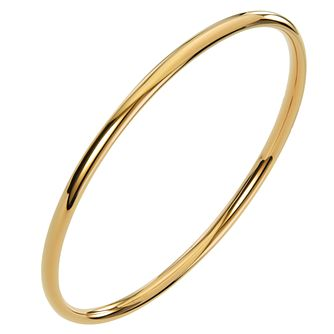 Ceramic Yellow Gold Plated Circle Bangle - Product number 9604170