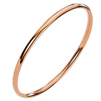 Ceramic Rose Gold Plated Circle Bangle - Product number 9604308