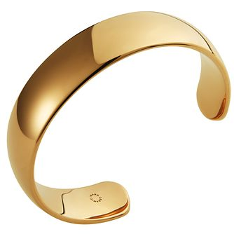 Ceramic Yellow Gold Plated Cuff Bangle - Product number 9604324