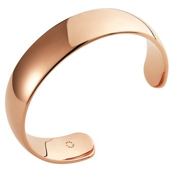 Ceramic Rose Gold Plated Cuff Bangle - Product number 9604332