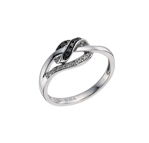Vivid Sterling silver white & treated black diamond ring - Product number 9614095