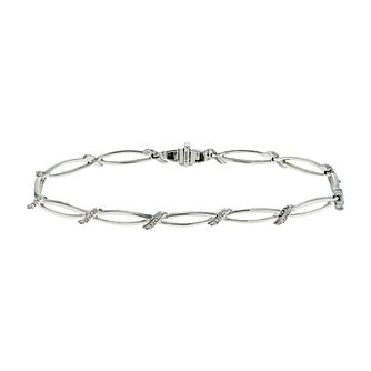 Sterling silver diamond set bracelet - Product number 9616659