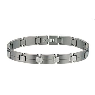 Titanium matt & polished stripe bracelet - Product number 9617191