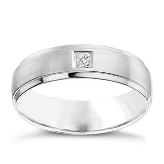 Silver & Diamond 6MM Ring - Product number 9618856