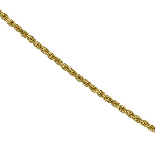 9ct yellow gold adjustable rope chain necklace - Product number 9620710