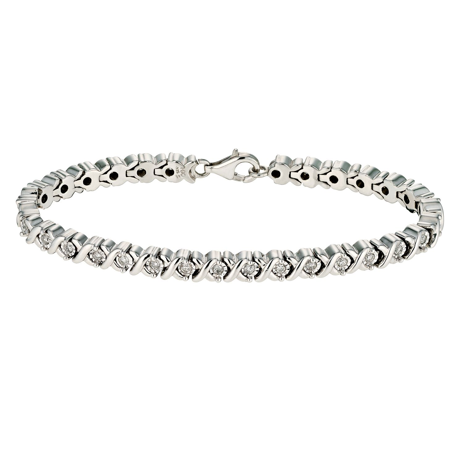 sterling bracelet diamondbracelt bangle bangles silver levyjewelers diamond all bracelets