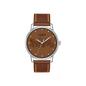 Coach Grand Ladies' Brown Strap Watch - Product number 9623027