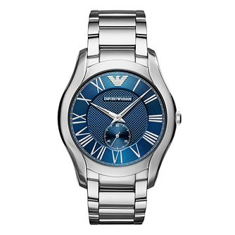 Emporio Armani Men's Stainless Steel Valentine Blue Watch - Product number 9626611