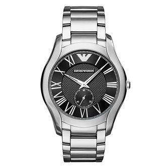 Emporio Armani Men's Stainless Steel Valentine Black Watch - Product number 9626638