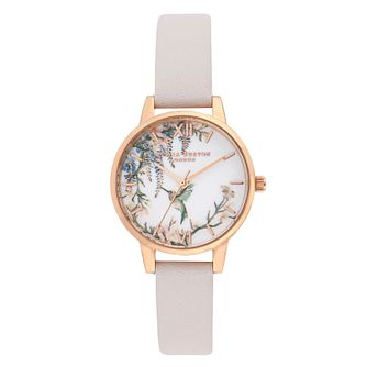 Olivia Burton Marble Floral Grey Lilac & Rose Gold Watch - Product number 9626646