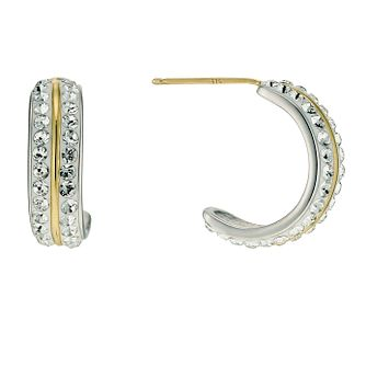 Evoke Sterling Silver & Gold Plated Crystal Wedding Earrings - Product number 9628169