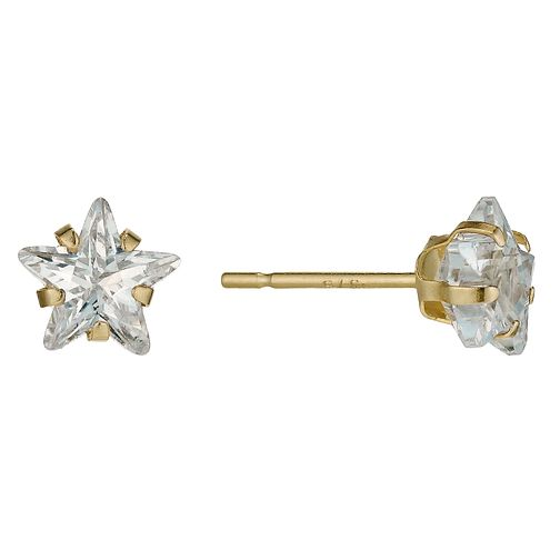 9ct Gold Cubic Zirconia Star Stud Earrings - Product number 9628266