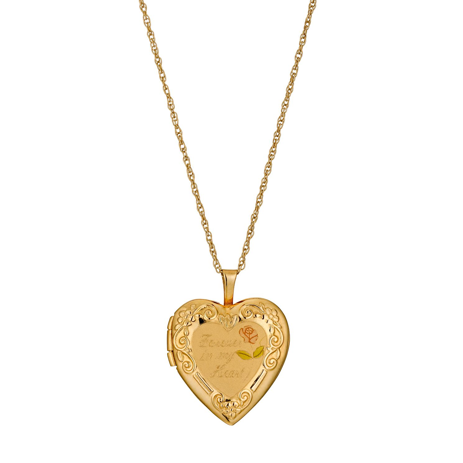 necklace amazon kids s lockets dp gold heart pendant locket childrens children jewelry com