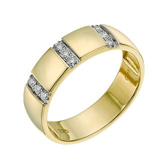 9ct yellow gold 5mm diamond ring - Product number 9641106