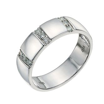 18ct white gold 5mm diamond ring - Product number 9641483