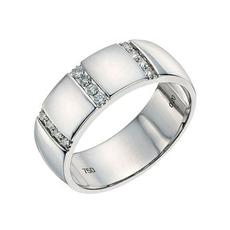 18ct white gold 7mm diamond wedding ring - Product number 9641718