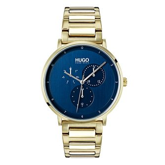 Hugo Gold Plated Gold Dial Bracelet Watch - Product number 9647538