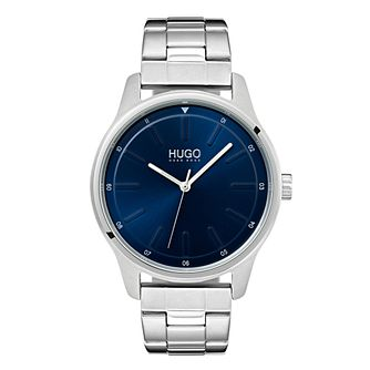 Hugo Stainless Steel Blue Dial Bracelet Watch - Product number 9647600