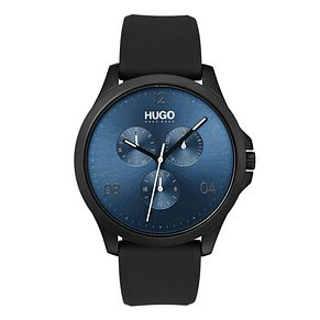 Hugo Silver Dial Black Silicone Strap Watch - Product number 9647740