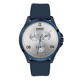 Hugo Silver Dial Blue Silicone Strap Watch - Product number 9647759