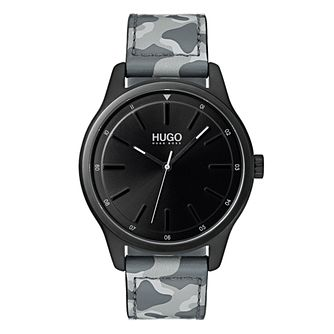 Hugo Unisex Camouflage Leather Strap Bracelet Watch - Product number 9647902