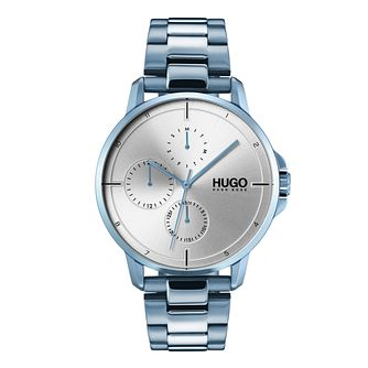 Hugo Blue IP Grey Dial Bracelet Watch - Product number 9647910