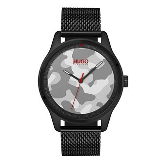 Hugo Unisex Camouflage Black IP Bracelet Watch - Product number 9647929