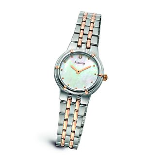 Accurist Ladies' Two Tone & Rose Gold Bracelet Watch - Product number 9648488