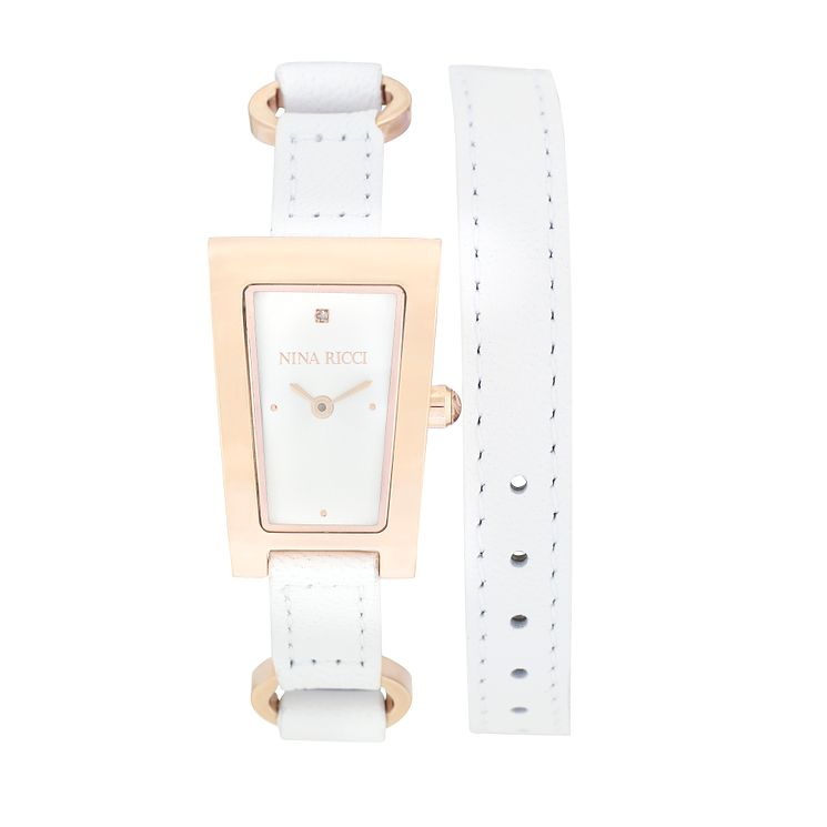 Nina Ricci Ladies' Rose Gold Rectangle Watch - Product number 9649794