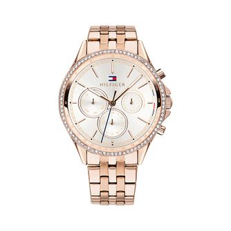 Tommy Hilfiger Ladies' Rose Gold Plated Silver Dial Watch - Product number 9649999
