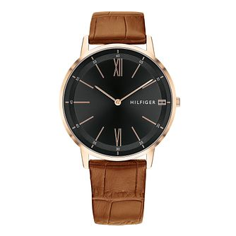Tommy Hilfiger Brown Leather Strap Watch - Product number 9650113