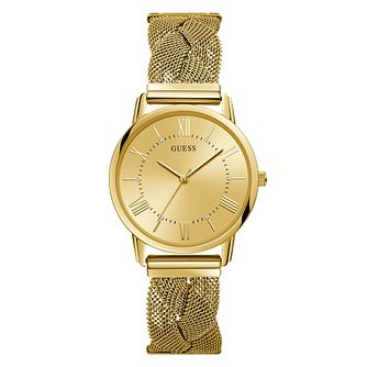 Guess Ladies' Gold Glitz Logo Dial Gold Watch - Product number 9654216