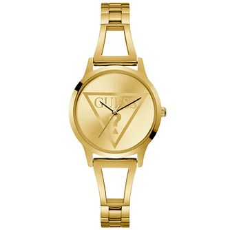Guess Ladies' Gold Logo Dial Watch - Product number 9654240